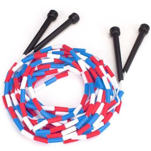 Lot of 2 -16 ft Double Dutch jump rope w/plastic segments