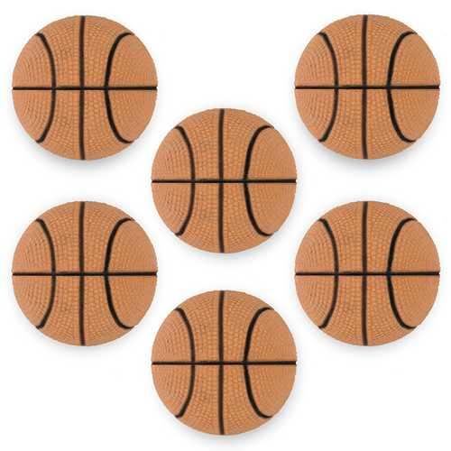 "6 Mini Basketballs, 2.5"""