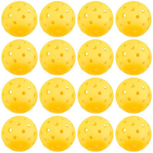 12-Pack of Pickleball Balls, Goldenrod Yellow