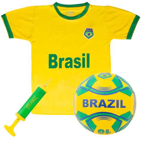Brazil National Team Kids Soccer Kit - Large