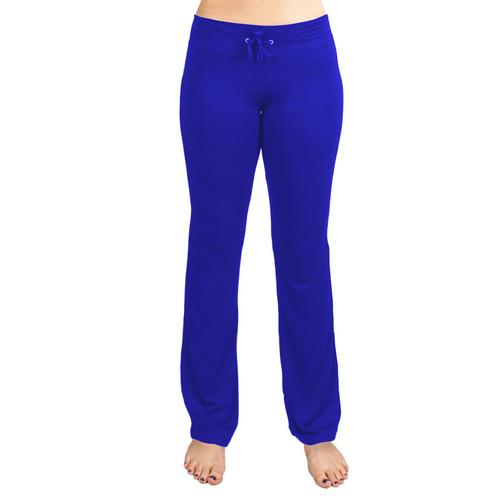 Medium Blue Relaxed Fit Yoga Pants