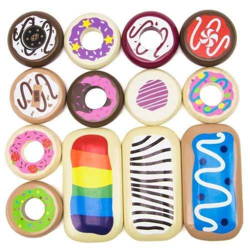 Baker's Dozen Wooden Donuts