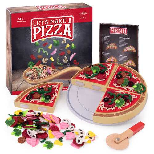 Let's Make a Pizza Playset with 140 Toppings