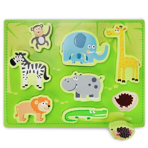 Chunky Exotic Safari Puzzle Board