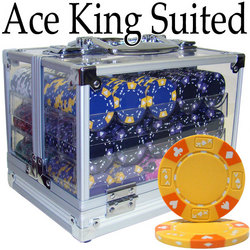 Custom - 600 Ct Ace King Suited Chip Set Acrylic Case