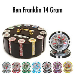 300 Ct - Pre-Packaged - Ben Franklin 14 G Wooden Carousel