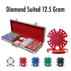 500 Ct - Pre-Packaged - Diamond Suited 12.5 G Black Aluminum