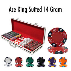500 Ct - Pre-Packaged - King's Casino 14 G - Black Aluminum