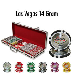 500 Ct - Pre-Packaged - Las Vegas 14 G - Black Aluminum