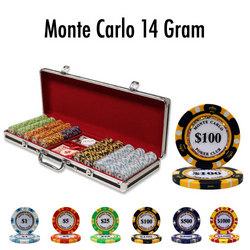 500 Ct - Pre-Packaged - Monte Carlo 14 G - Black Aluminum