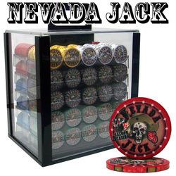 Category: Dropship Poker / Casino Supplies, SKU #CSNJ-1000ACC, Title: Custom Breakout - 1000 Ct Nevada Jack 10g Acrylic Chip Set