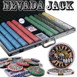 Category: Dropship Poker / Casino Supplies, SKU #CSNJ-1000ALC, Title: Custom Breakout - 1000 Ct Nevada Jack 10 Gram Chip Set