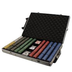 Category: Dropship Poker / Casino Supplies, SKU #CSNJ-1000RC, Title: Custom - 1000 Ct Nevada Jack 10 Gram Chip Set Rolling Case
