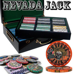 Category: Dropship Poker / Casino Supplies, SKU #CSNJ-500H, Title: Pre-Packaged - 500 Ct Nevada Jack 10g Hi Gloss Chip Set