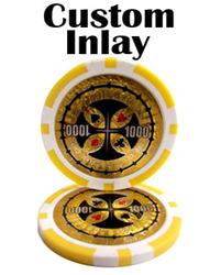 Category: Dropship Poker / Casino Supplies, SKU #CUS-0003, Title: Custom Inlay Poker Chips