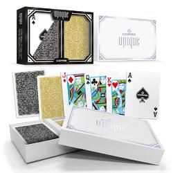 Copag Unique Black/Gold, Poker Size, Regular Index