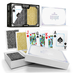 Copag Unique Black/Gold, Poker Size, Jumbo Index