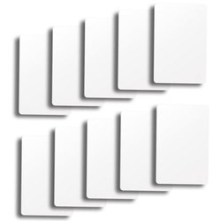 Set of 10 White Plastic Bridge Size Cut Cards
