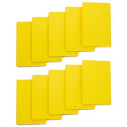 Set of 10 Yellow Plastic Bridge Size Cut Cards