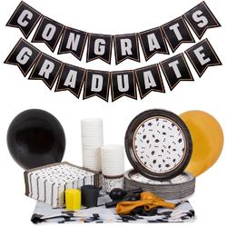 Graduation Decoration Kit, Black and Gold