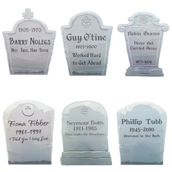 """14"""" Tombstone Yard Signs, 6-pack"""