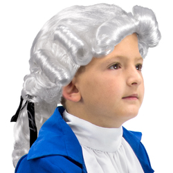 Colonial Powdered Wig, Child Size
