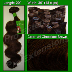 #4 Chocolate Brown - 20 inch Body Wave