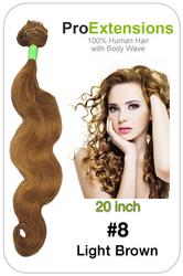#8 Light Brown - 20 inch Body Wave