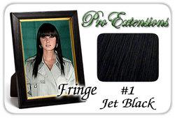 #1 Jet Black Pro  Fringe Clip In Bangs