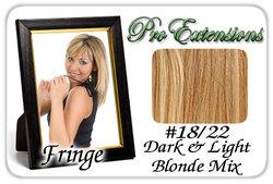 #18/22 Dark Blonde w/ Highlights Pro  Fringe Clip In Bangs