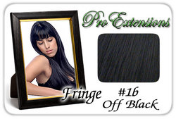 #1b Off Black Pro  Fringe Clip In Bangs