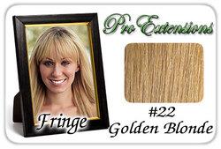 #22 Golden Blonde Pro  Fringe Clip In Bangs