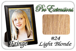 #24 Light Blonde Pro  Fringe Clip In Bangs