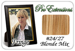 #24/27 Blonde Mix Pro  Fringe Clip In Bangs
