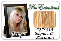#27/613 Dark Blonde w/ Platinum Pro  Fringe Clip In Bangs
