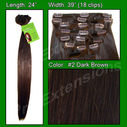 #2 Dark Brown - 24 inch Remy
