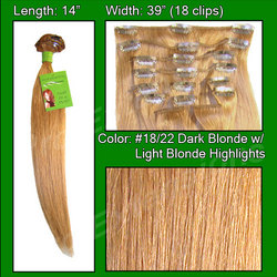 #18/22 Dark Blonde w/ Light Highlights - 14 inch