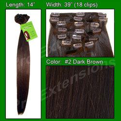 #2 Dark Brown - 14 inch