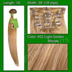 #22 Medium Golden Blonde - 14 inch