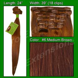 #6 Medium Brown - 24 inch