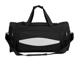 20 Inch Black 600HD Tuff Cloth Canvas Duffel Bag