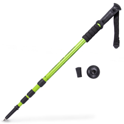 """53"""" Green Shock-Resistant Adjustable Trekking Pole"""