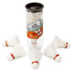 5 Premium Hen Feather Shuttlecocks