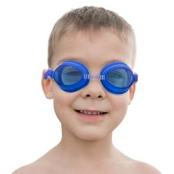 Kids Swim Goggles & Case, Blue
