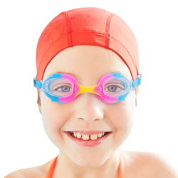 Colorful Kids Goggles with Case, Cotton Candy