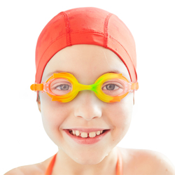 Colorful Kids Goggles with Case, Tropical