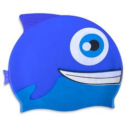 Kids Fishy Swim Cap, Blue
