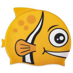 Kids Fishy Swim Cap, Yellow