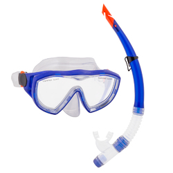 Adult Semi-Dry Diving & Snorkel Set, Marine