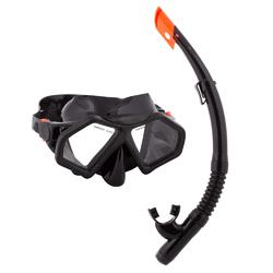Adult Semi-Dry Diving & Snorkel Set, Stealth